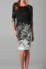 Elie Tahari Bianca Elbow Sleeve Ombre Printed Dress - Lyst