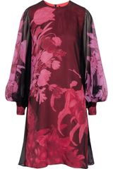 Giambattista Valli Printed Silk-chiffon Dress - Lyst