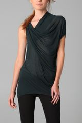 Helmut Lang Draped Top - Lyst