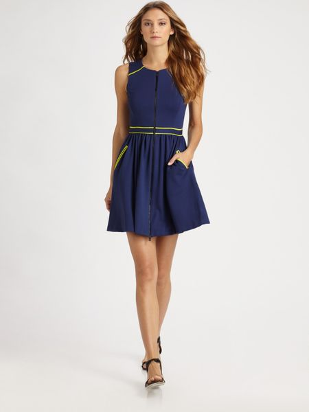 Jason Wu Techno Jersey Dress in Blue (navy) - Lyst