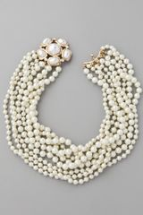 Kenneth Jay Lane Pearl Clasp Necklace - Lyst