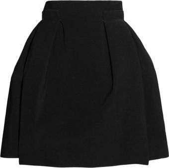 Lanvin High-waisted Stretch-crepe Pleated Skirt - Lyst