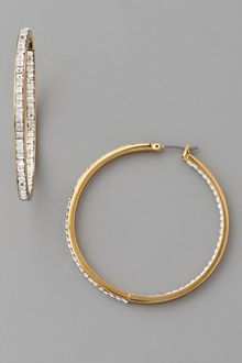 Michael Kors Jet Set Glamour Hoop Earrings - Lyst