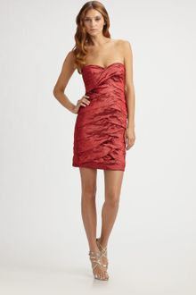 Nicole Miller Strapless Dress - Lyst