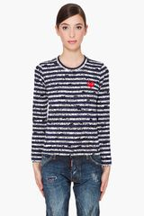 Play Comme Des Garçons Long Sleeve Collaboration Shirt - Lyst