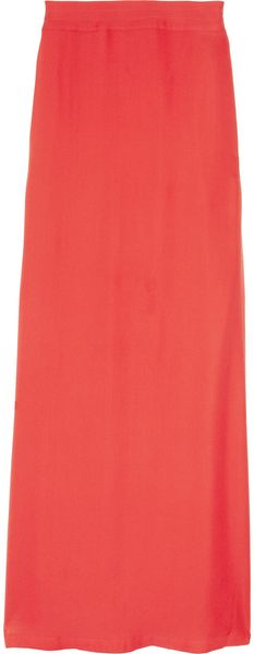 Sass And Bide From A Distance Side-split Silk Maxi Skirt - Lyst