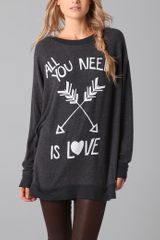 Wildfox All You Need Sweatshirt - Lyst