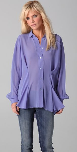 Acne Shining Blouse - Lyst