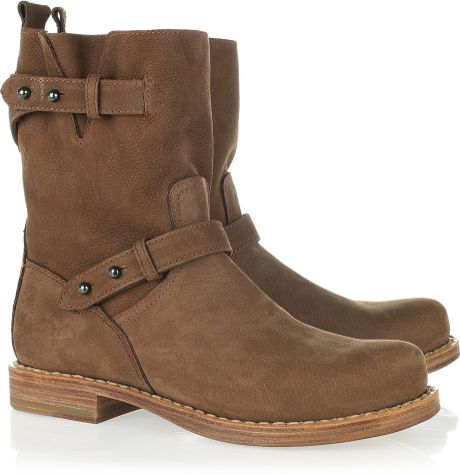 rag bone moto leather boots in brown lyst