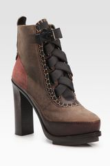 Rag & Bone Astrid Leather-blend Lace-up Ankle Boots - Lyst