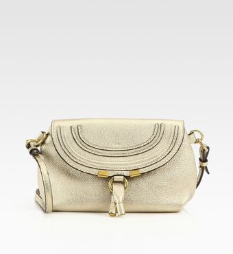 Chloé Marie Metallic Crossbody Bag - Lyst