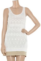 DKNY Broderie Anglaise Cotton-blend Tunic - Lyst