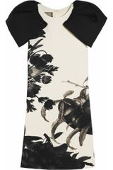 Giambattista Valli Floral-print Wool-crepe Dress - Lyst