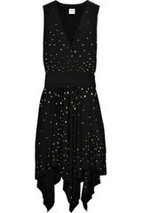 Halston Heritage Bead-embellished Jersey Dress - Lyst