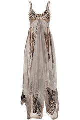 Haute Hippie Dreamcatcher Feather and Silk-chiffon Gown