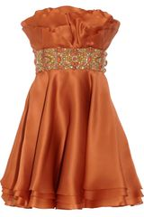 Marchesa Embellished Silk-organza Dress - Lyst