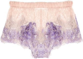 Rosamosario Pitture Darte Hand-painted Lace Shorts - Lyst
