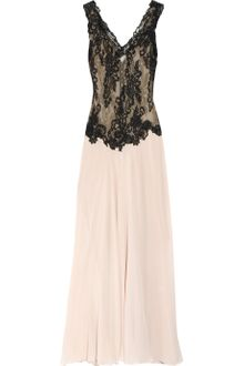 Rosamosario Sole Del Salento Lace and Silk-chiffon Chemise - Lyst