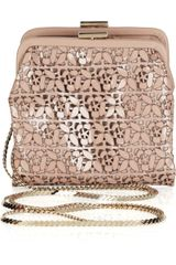 Valentino Laser-cut Patent-leather Shoulder Bag - Lyst
