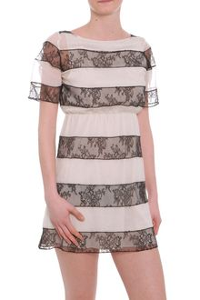 Alice + Olivia Lace Detail Mini Dress - Lyst