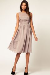 ASOS Collection Asos Midi Dress in Chiffon - Lyst