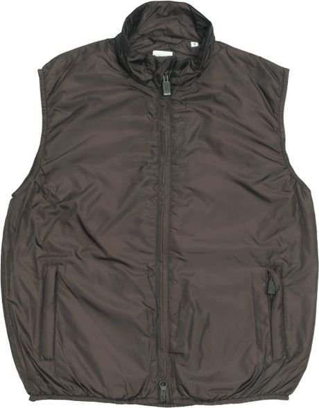 Aspesi Jillina _ Quilted Vest in Nylon in Black (brown)