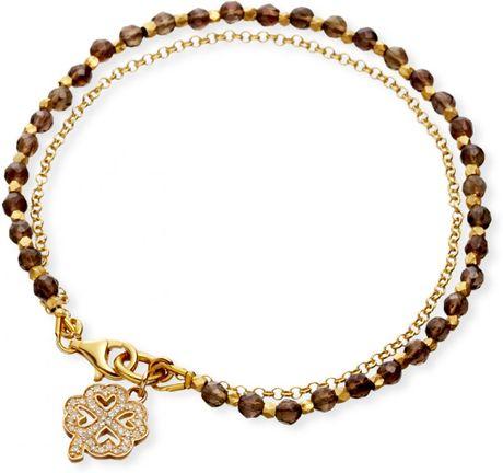 astley clarke four leaf clover friendship bracelet in