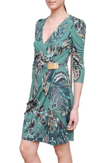Emilio Pucci Printed Dress with Gold Buckle - Lyst