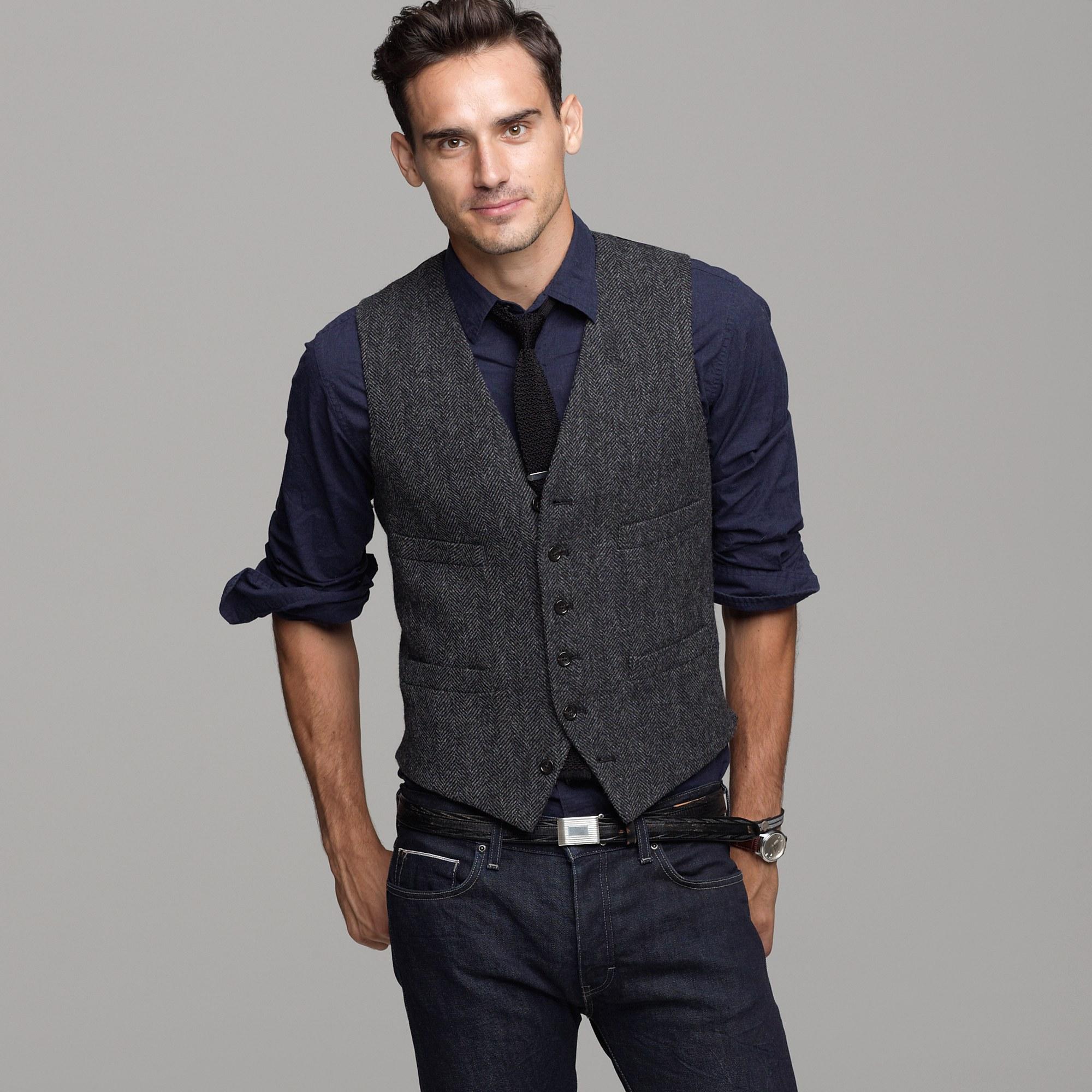 J.crew Buckley Herringbone Vest in Gray for Men | Lyst