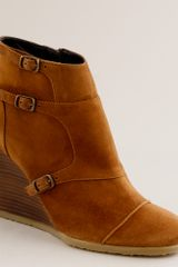 J.Crew Greer Wedge Ankle Boots - Lyst