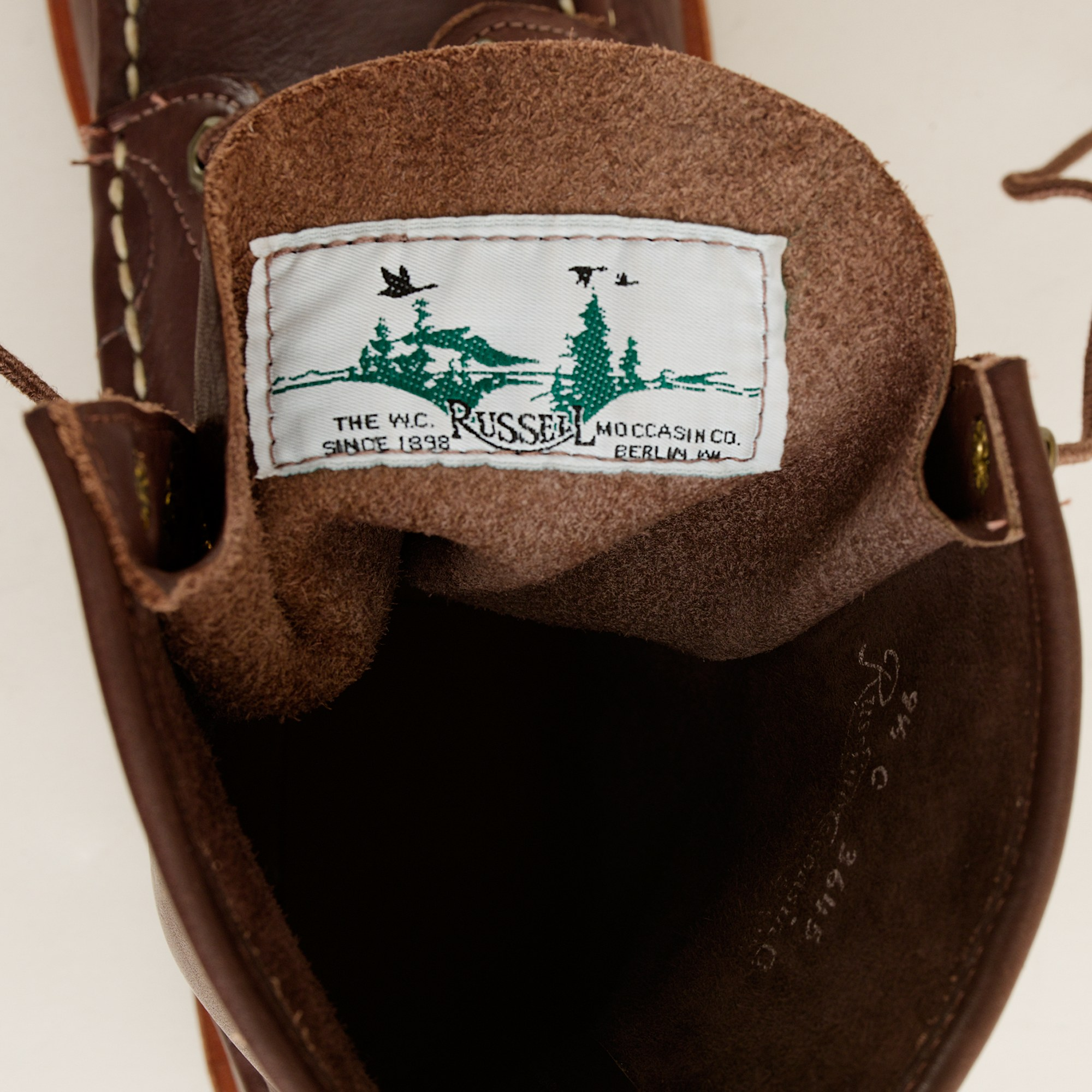 J Crew Russell Moccasin Co Imperial Boots In Brown For