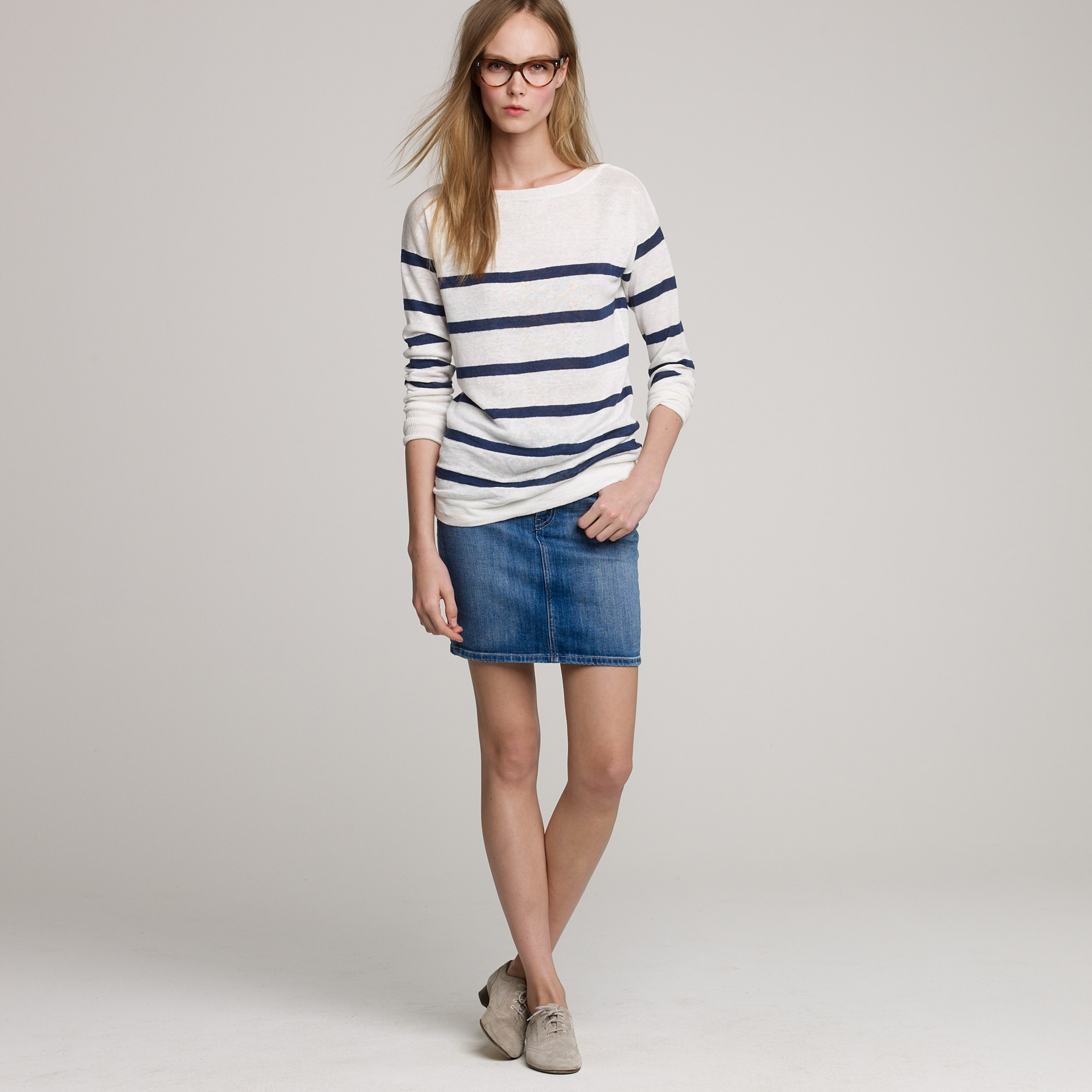 864fef4971 J.Crew Mih Jeans® Delancey Denim Skirt in Blue - Lyst