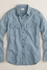 J.Crew Chambray Shirt - Lyst