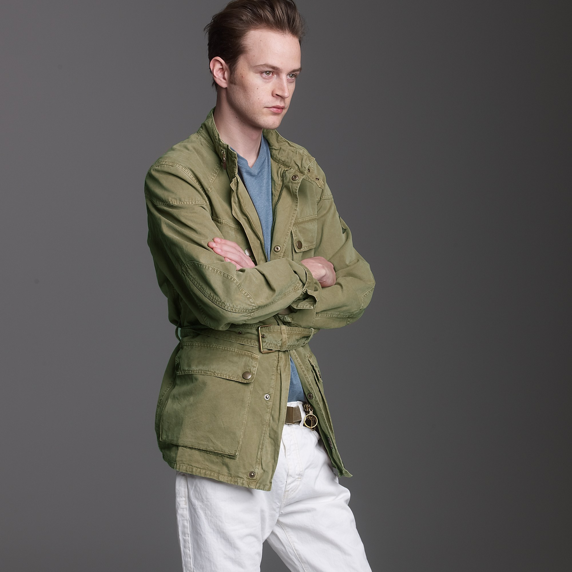 J.crew Belstaff® Lawrence Replica Jacket in Green for Men | Lyst