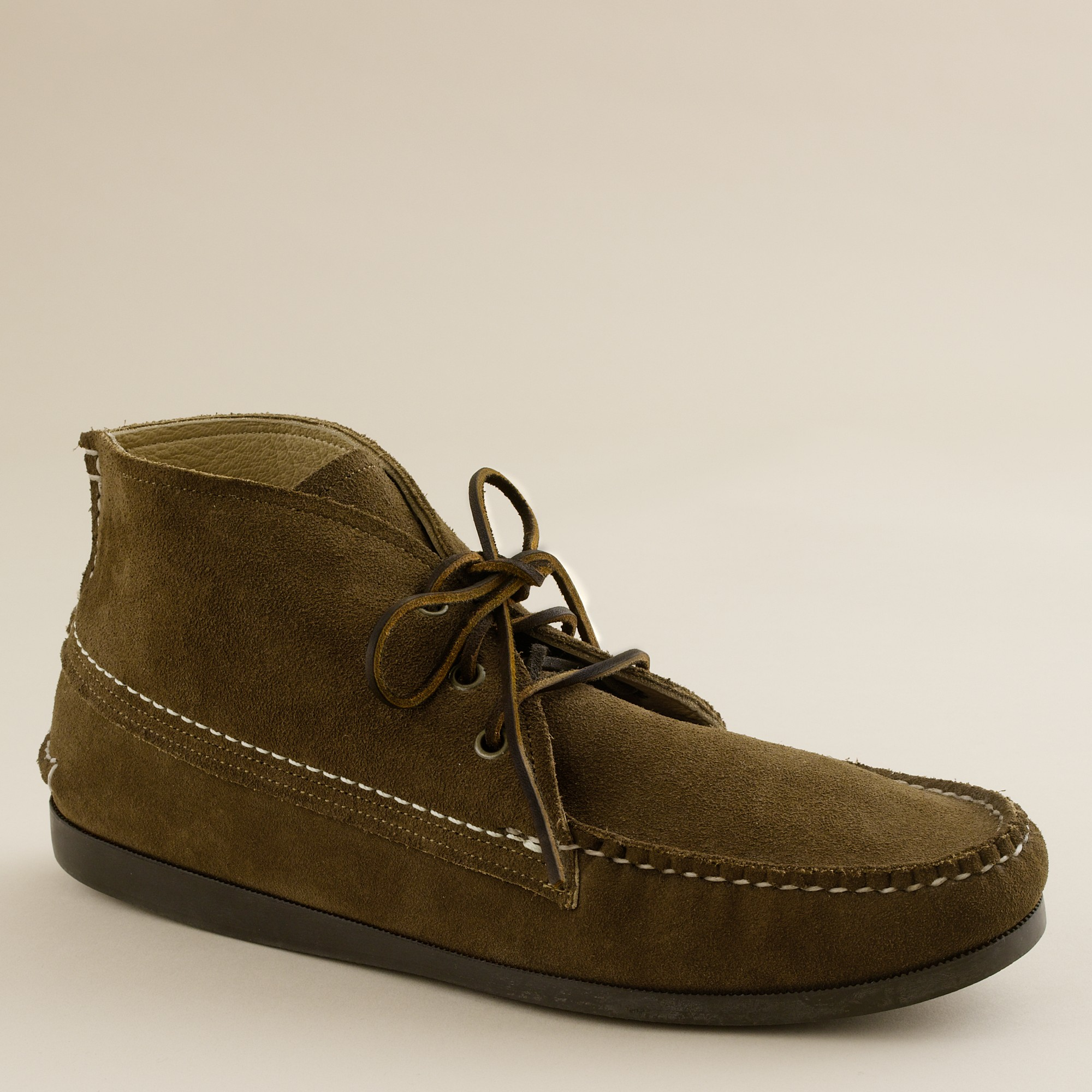 j crew mens quoddy 174 suede chukka boots in brown for