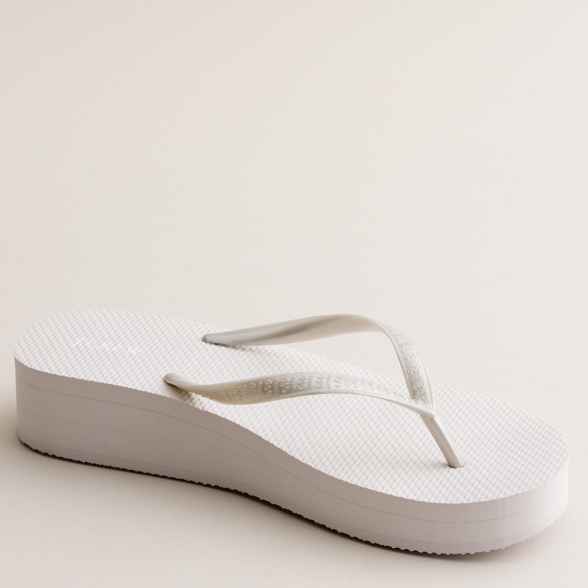 5021661b22e6 Lyst - J.Crew Skinny Wedge Flip-flops in White