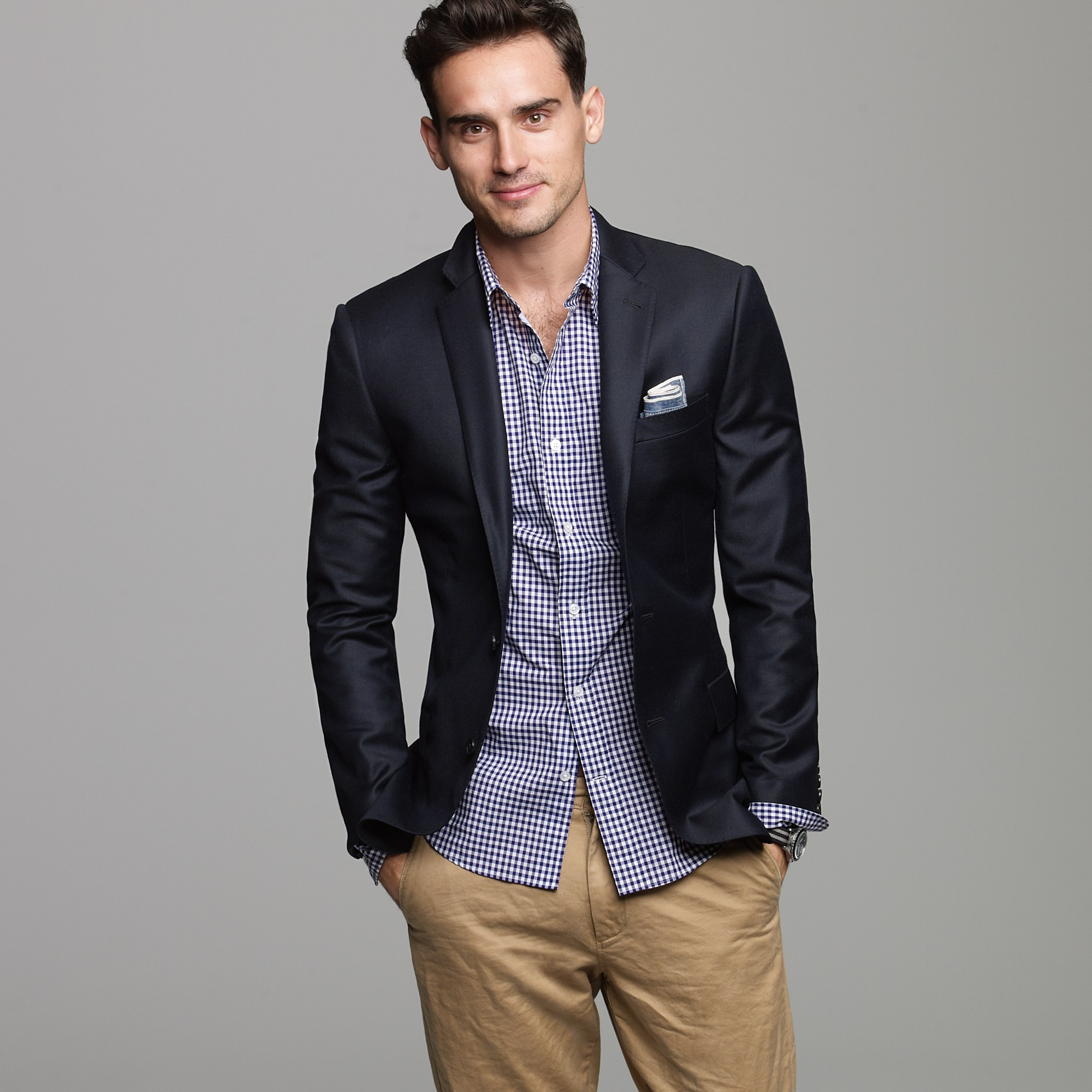 J.crew Ludlow Three-button Blazer in Blue for Men (navy ...