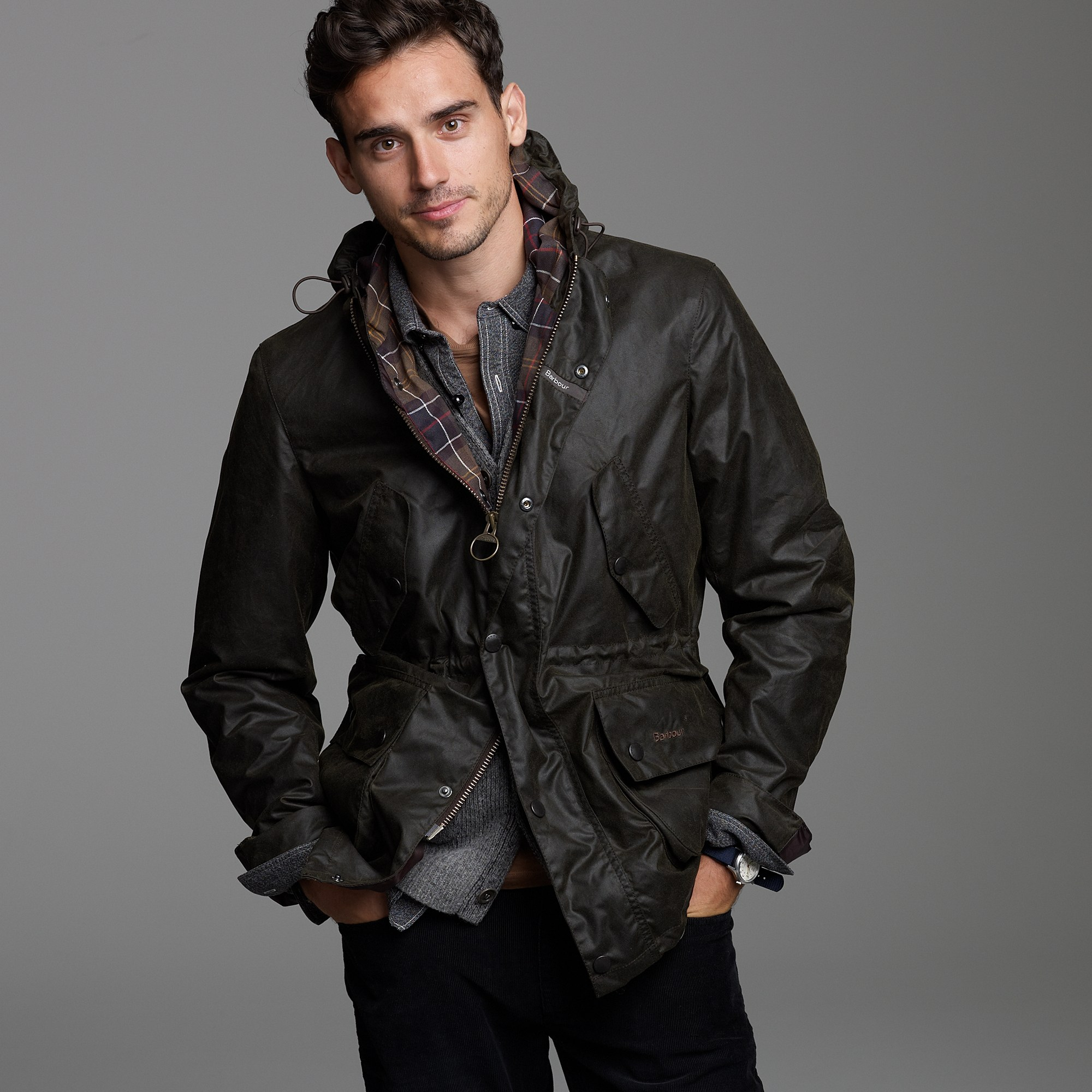 J Crew Barbour 174 Derwent Jacket In Black For Men Lyst