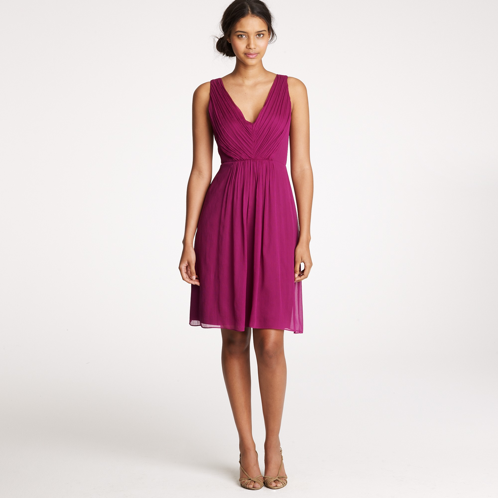 Jew louisa dress in silk chiffon in purple lyst gallery ombrellifo Choice Image