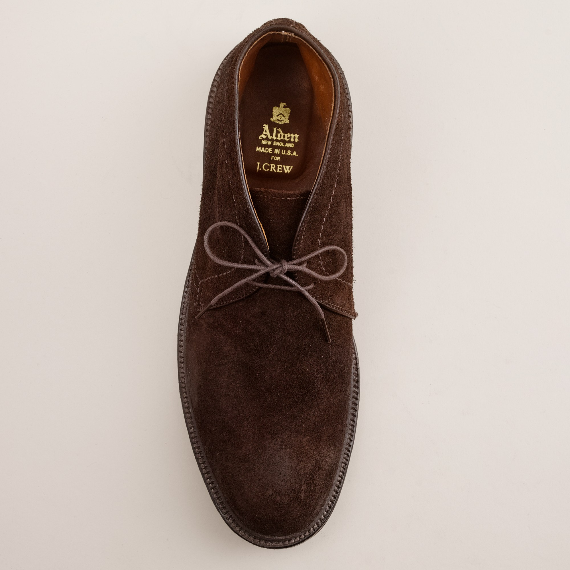 J.crew Alden® For J.crew Roughed-out Suede Chukka Boots in Brown ...
