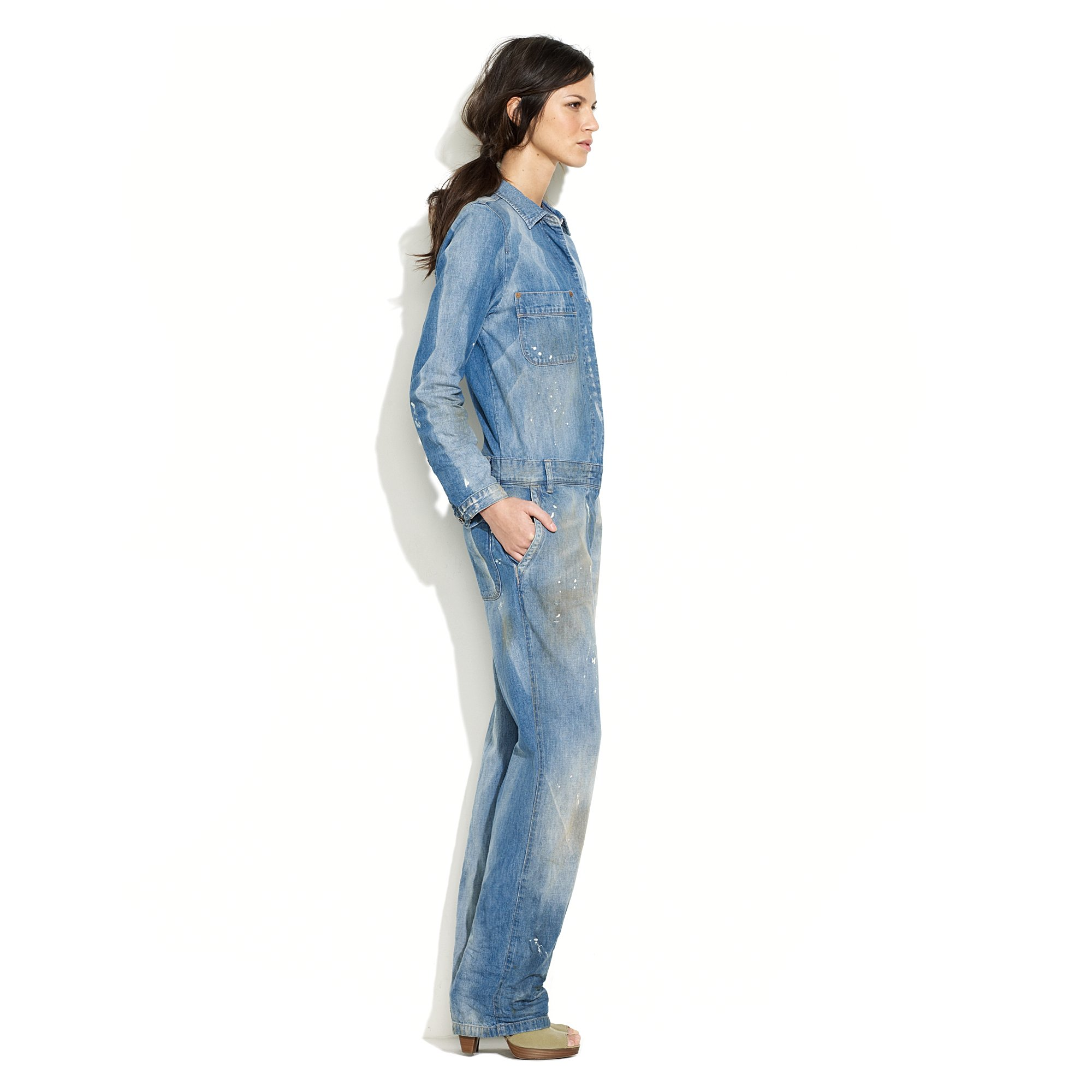 3edf1a57f5c Lyst - Madewell Heritage Premium Worksuit in Bighorn Wash in Blue