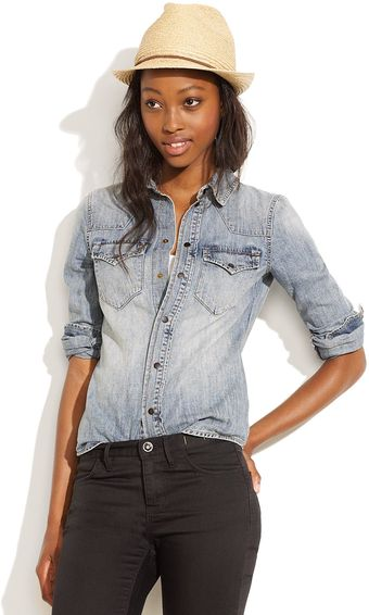 Madewell Wayward Jean Shirt in Desert Willow Wash - Lyst