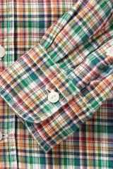 Kitsuné Plaid Flannel Shirt in Multicolor for Men (green) - Lyst