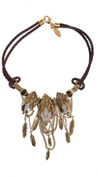Roberto Cavalli Rapacious Bird Necklace - Lyst