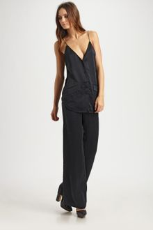 T By Alexander Wang Silk Jacquard Wide-leg Trousers - Lyst