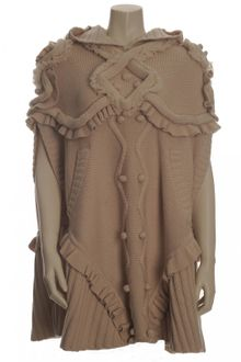Temperley London Hooded Cable-knit Wool Poncho - Lyst
