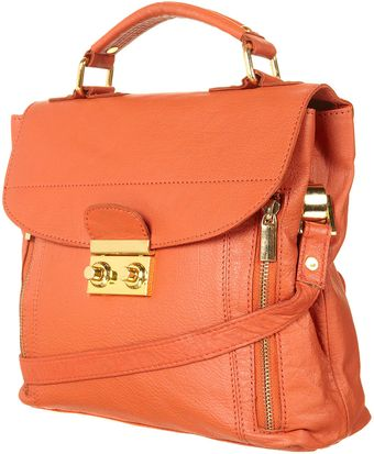 Topshop Leather Satchel - Lyst