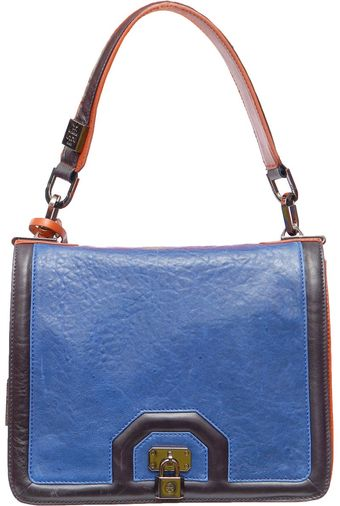 Tory Burch 2 Coloured Charly Bag with Padlock Detail - Lyst