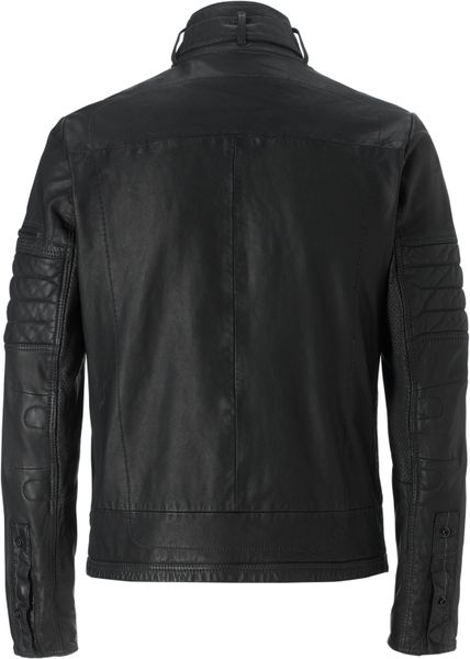 star Raw Hermans Leather Jacket in Black | Lyst