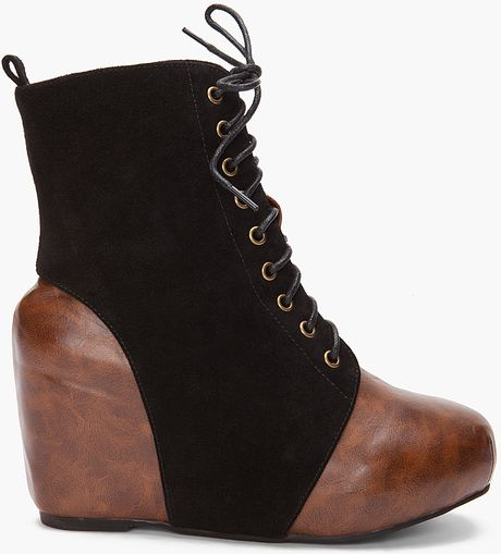 Jeffrey Campbell Spatz Wedges in Brown - Lyst